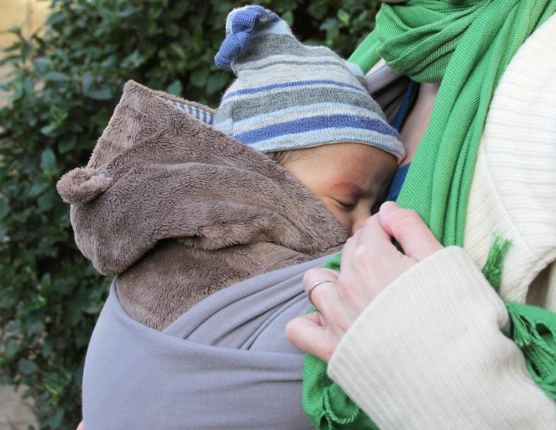 getragenes baby babytrage
