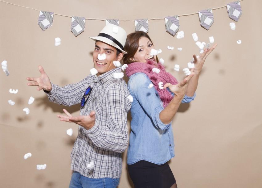 Bei einem Photobooth-Shooting enstehen meistens lustige  und kreative Schnappschüsse