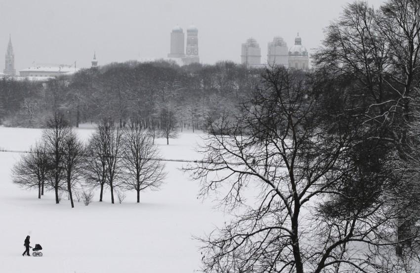 Schnee in Muenchen