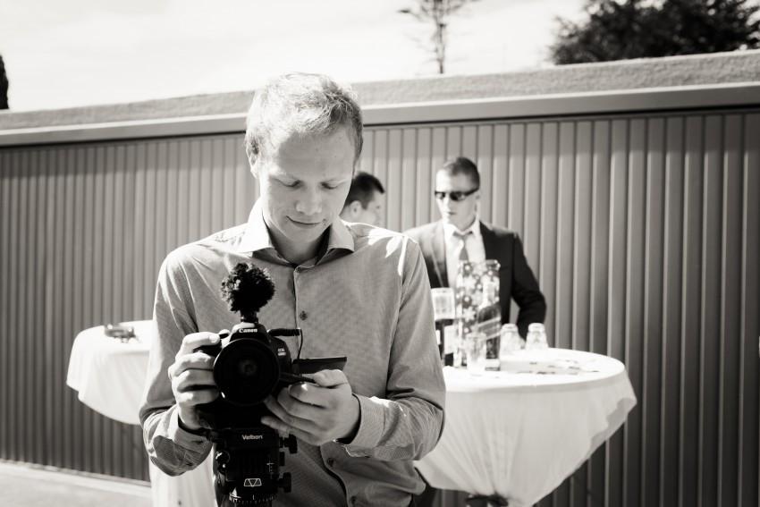 Professioneller Kameramann