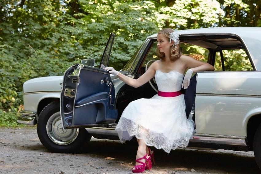 In Szene gesetzt: Das Brautkleid