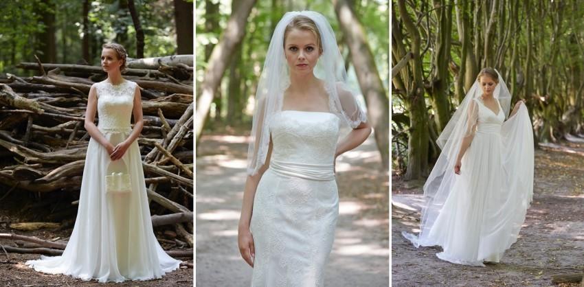 Hochzeitskleid präsentieren fotografieren