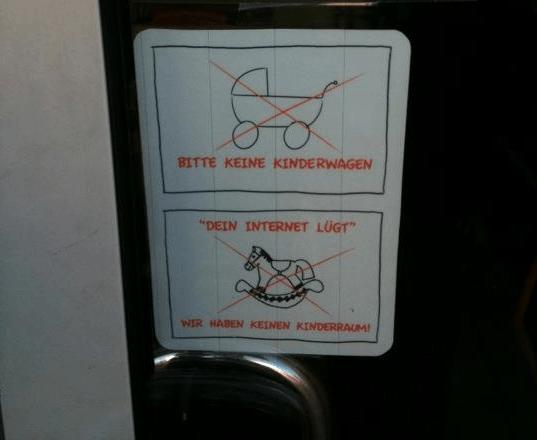 Kinderwagen verbot