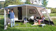 Unser kleiner Wohnwagen Osterferien Camping Bodensee