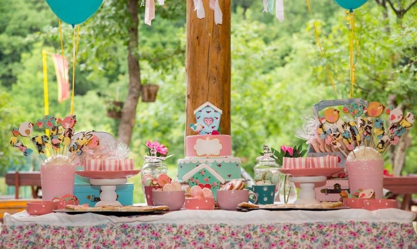 Sweet Table, Mädchen, rosa, Geburtstag