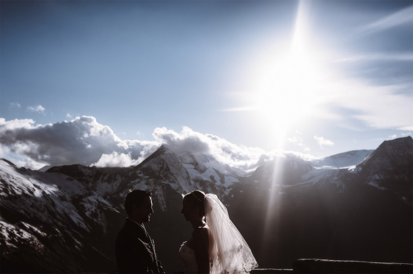 Hochzeitsinspiration-Brautpaarshooting Berggipfel