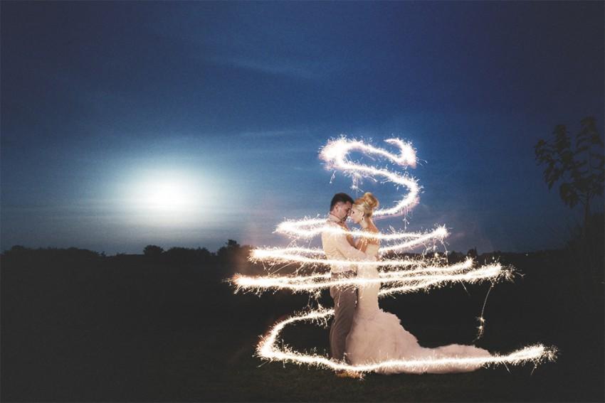 Hochzeitsinspiration-Brautpaarshooting bei Nacht