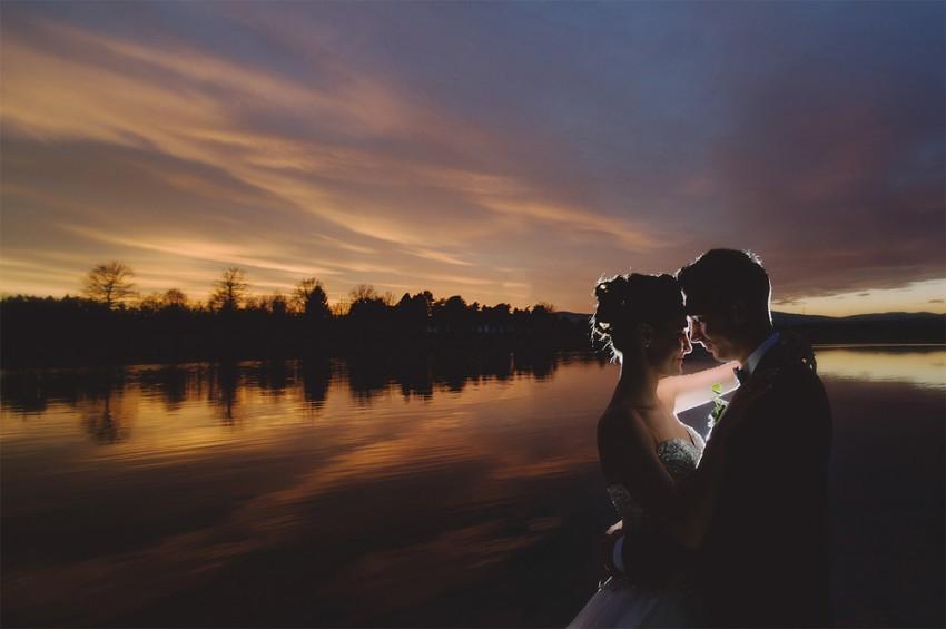 Hochzeitsinspiration-Brautpaarshooting bei Sonnenuntergang