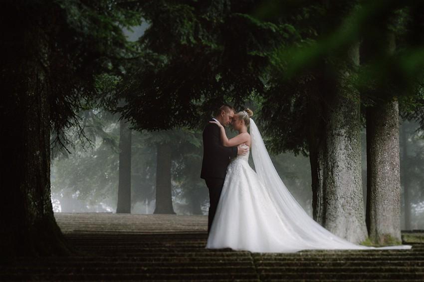 Hochzeitsinspiration-Brautpaarshooting im Wald