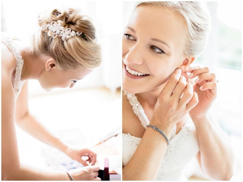 Schmuck und Outfit der Braut