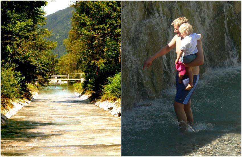 Sommerliche Erfrischung und Badespaß im Bach!