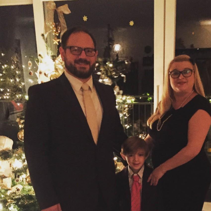Tanja und ihre Familie an Weihnachten