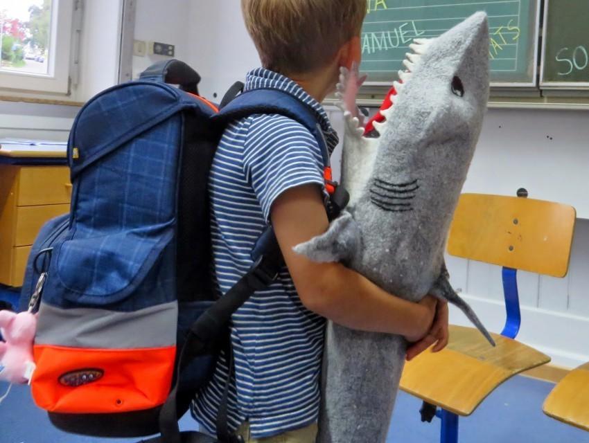 Hai selbstgemacht aus Filz