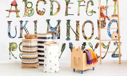 Wanddekorationen, die Kindern beim Lernen helfen
